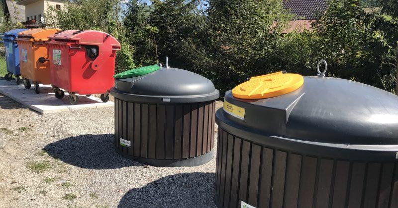 Nový šat stojiska pre separovaný odpad pri ZŠ